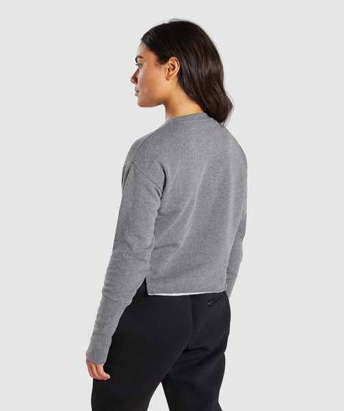 Gymshark Slounge Crescent Sweater - Charcoal Marl 1
