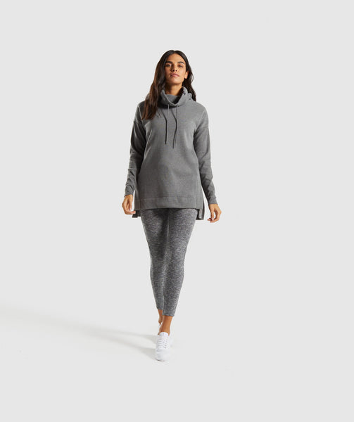 Gymshark Slounge Ribbed Pullover -Charcoal Marl 3