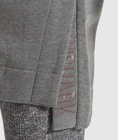 Gymshark Slounge Ribbed Pullover -Charcoal Marl 12