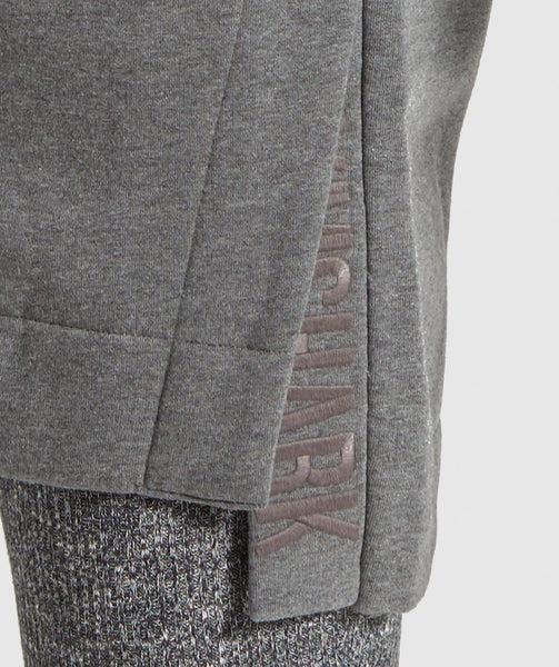 Gymshark Slounge Ribbed Pullover -Charcoal Marl 4