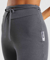 Gymshark Slounge Ribbon Bottoms - Charcoal Marl 11