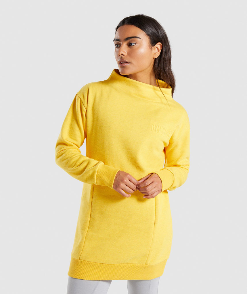 Gymshark So Soft Sweater - Citrus Yellow Marl 1