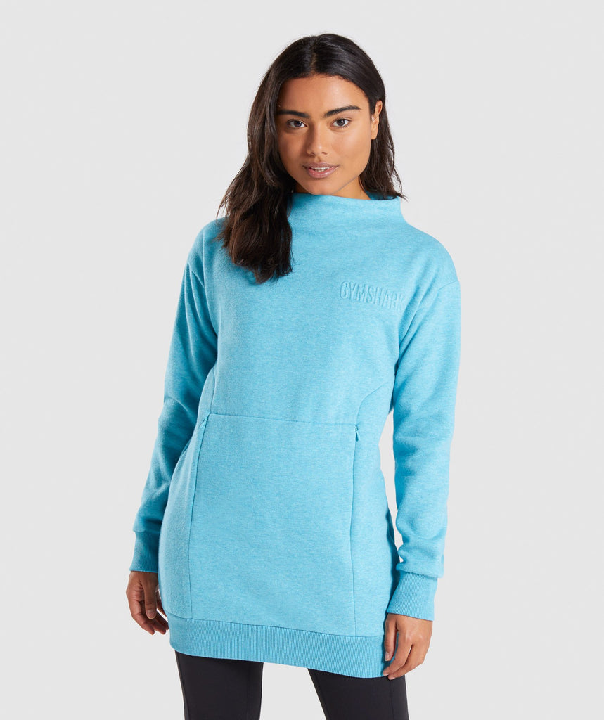 Gymshark So Soft Sweater - Dusky Teal Marl 1