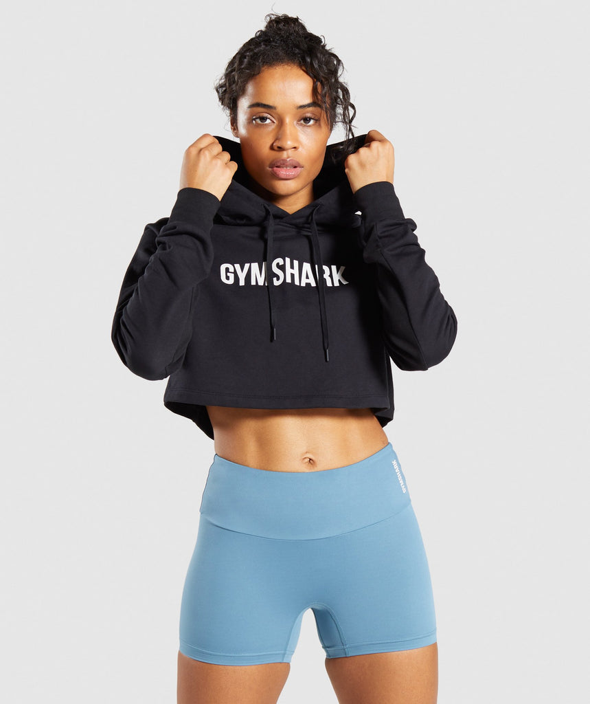 Gymshark Training Cropped Hoodie - Black 1