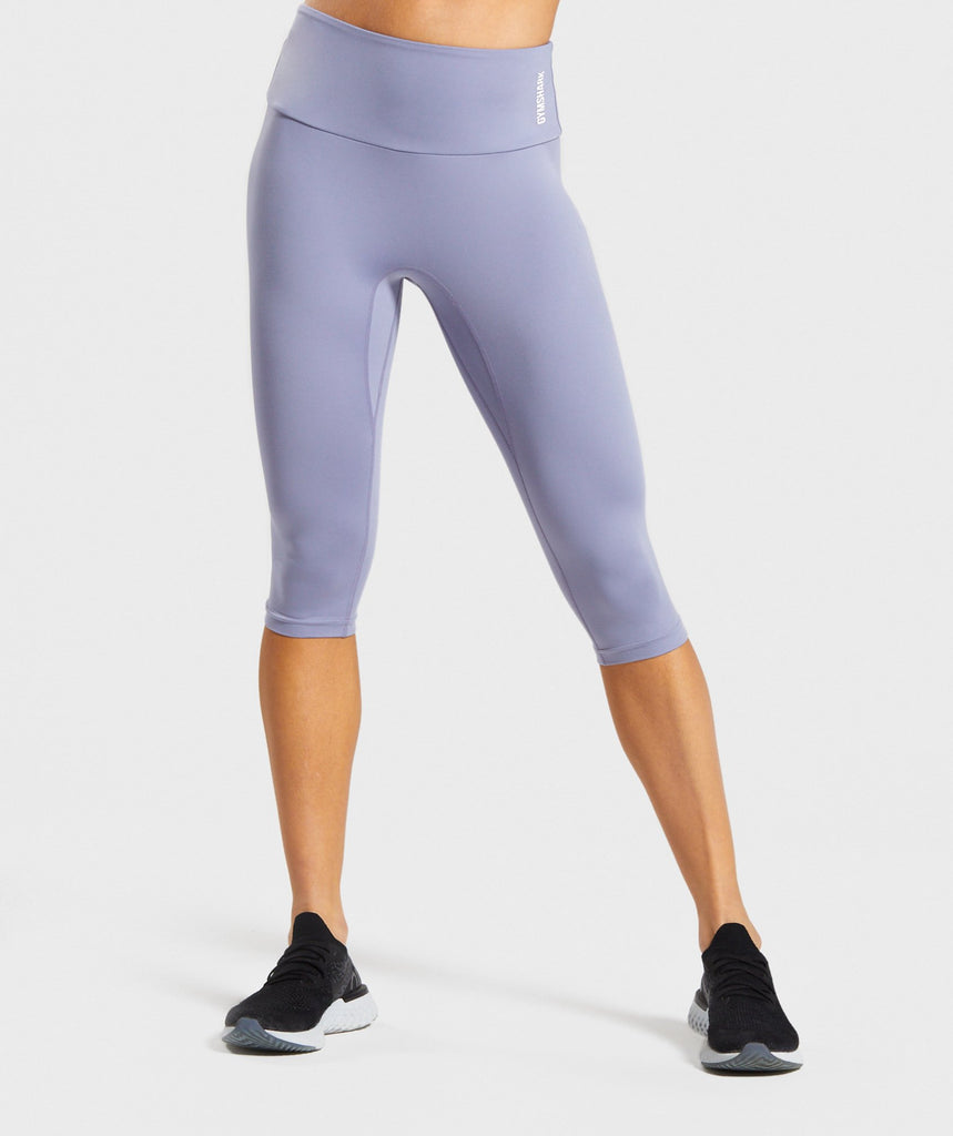Gymshark Training Cropped Leggings - Blue 1