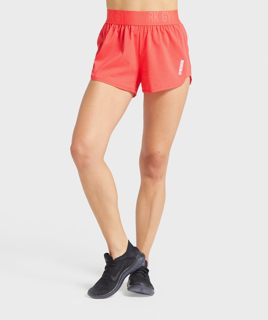 Gymshark Training Loose Fit Shorts - Red 1