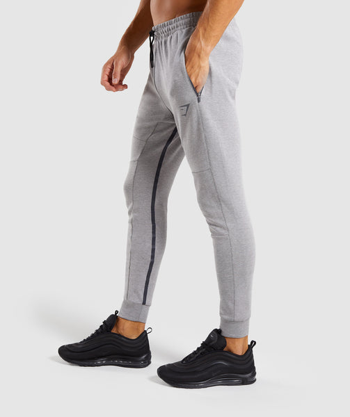 Gymshark Take Over Bottoms - Light Grey Marl 2
