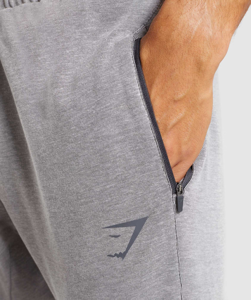 Gymshark Take Over Bottoms - Light Grey Marl 5