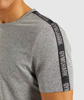 Gymshark Taped T-Shirt - Grey Marl 11
