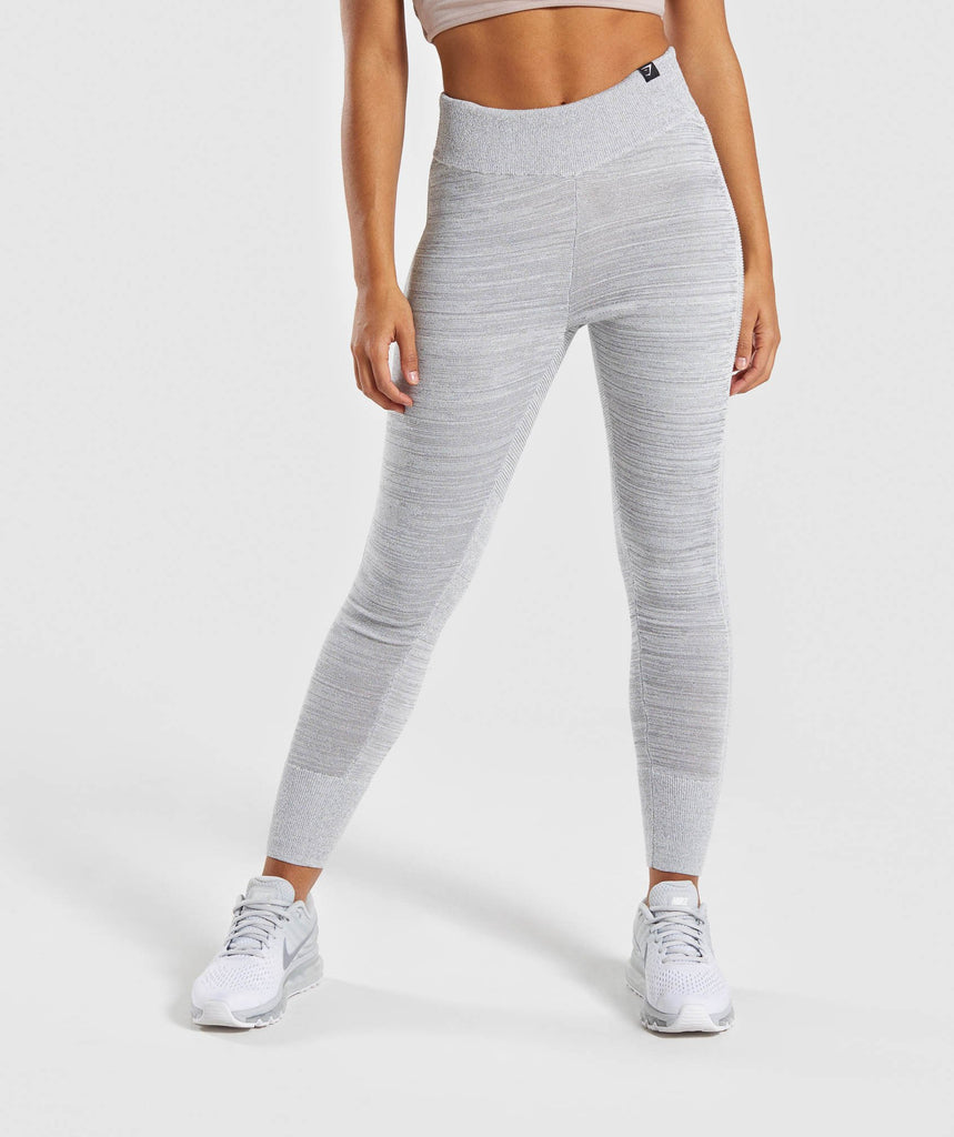Gymshark Time Out Knit Joggers - Light Grey 1