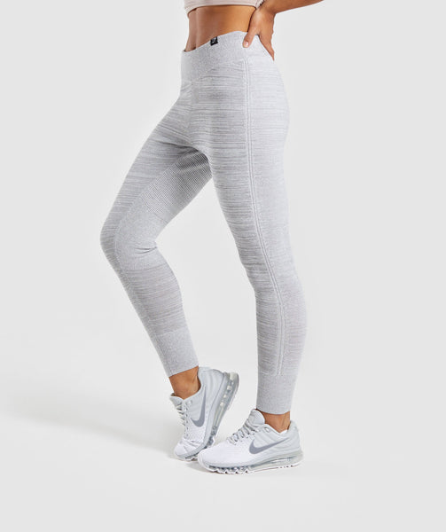 Gymshark Time Out Knit Joggers - Light Grey 2