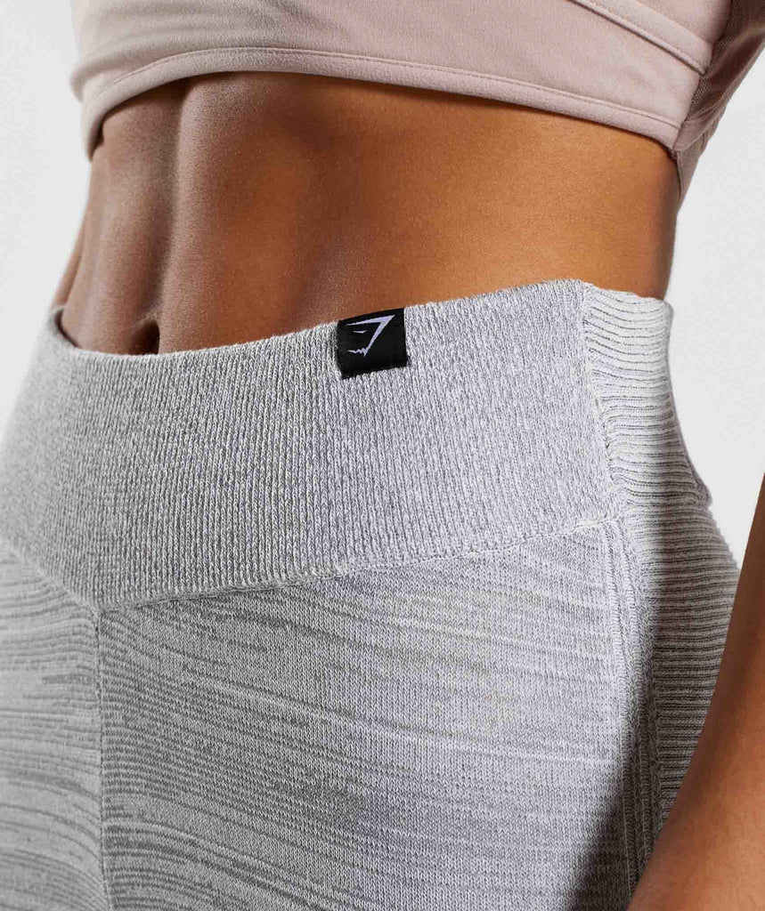 Gymshark Time Out Knit Joggers - Light Grey 6