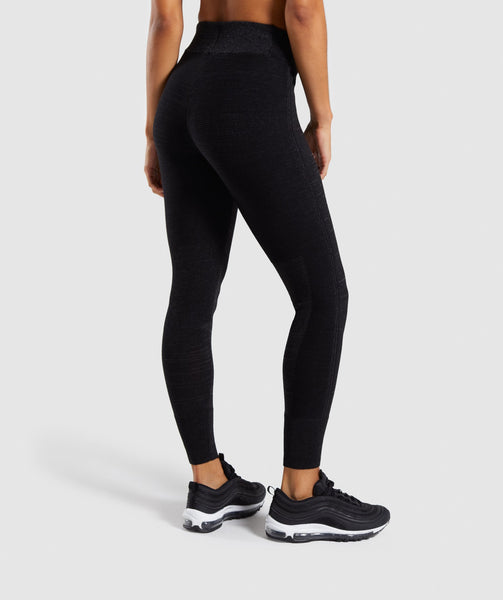 Gymshark Time Out Knit Joggers - Black Marl 1