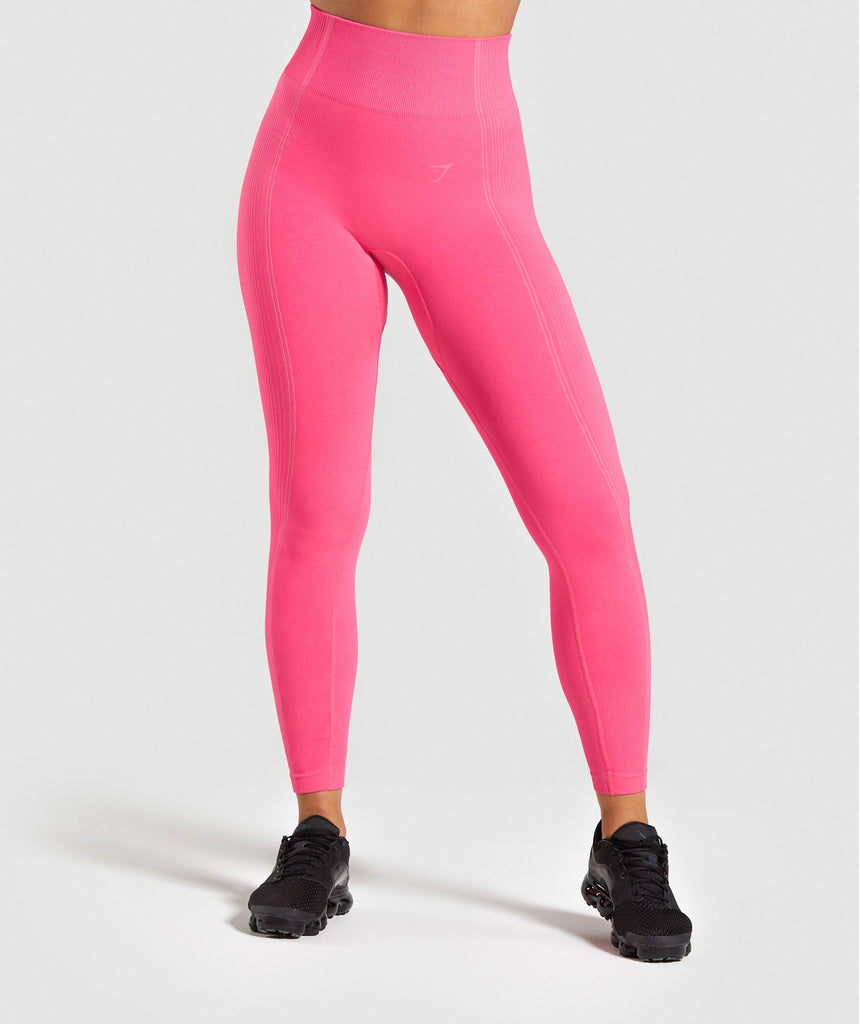 Gymshark Ultra Seamless Leggings - Cyber Pink 1