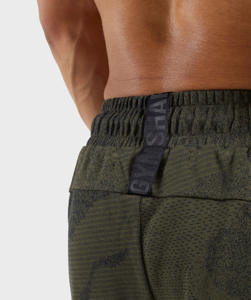 Gymshark Ultra Jacquard Shorts - Woodland Green 6
