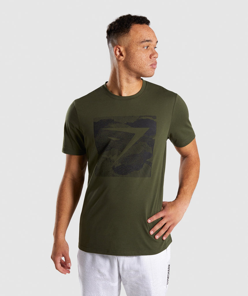 Gymshark Ultra Jacquard T-Shirt - Woodland Green 4
