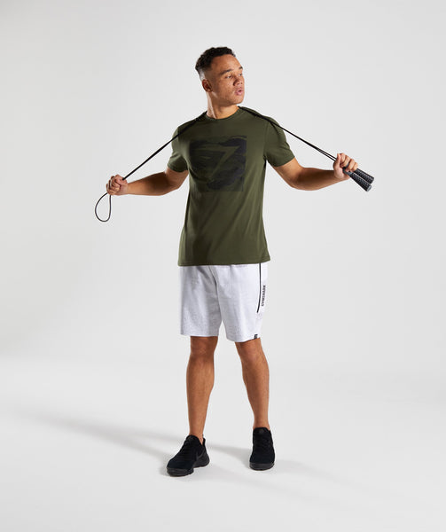 Gymshark Ultra Jacquard T-Shirt - Woodland Green 3