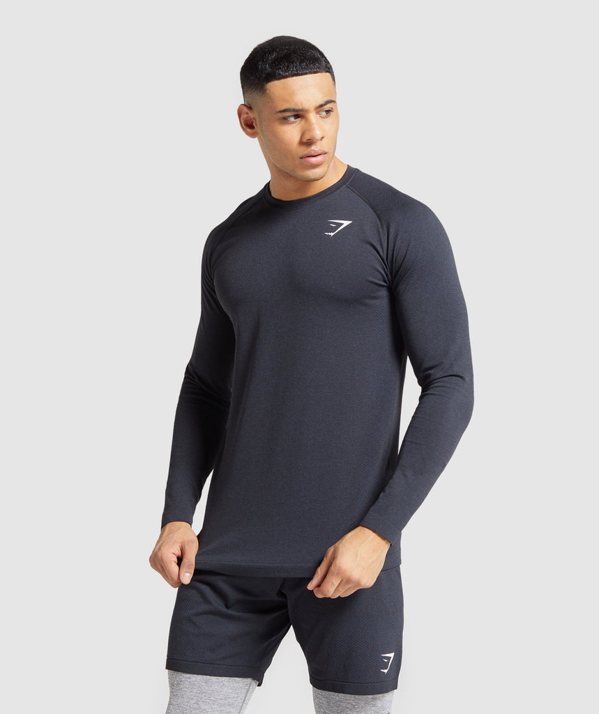 Gymshark Vital Seamless Long Sleeve T-Shirt - Black 1