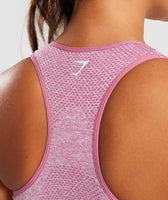 Full Length Dusty Pink Marl Vital Seamless Sports Bra Back 12