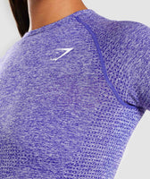 Indigo Marl Vital Seamless T-Shirt Chest 11