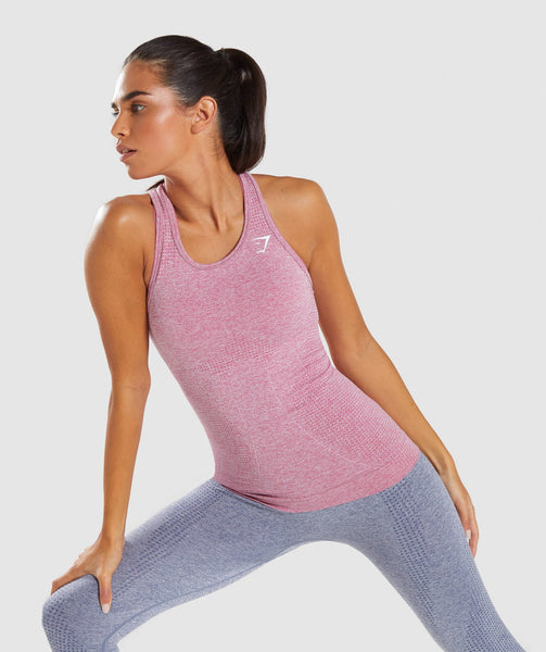Full Length Dusty Pink Marl Vital Seamless Vest Front 4