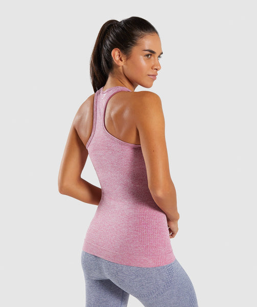 Full Length Dusty Pink Marl Vital Seamless Vest Back 1