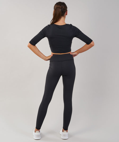 Gymshark Ballet Crop Top - Black 1