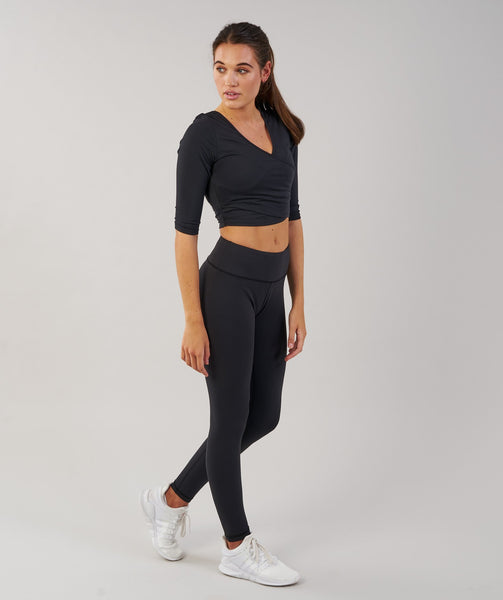 Gymshark Ballet Crop Top - Black 3