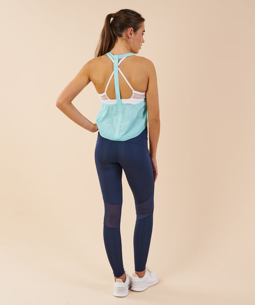 Gymshark T-Bar Cropped Vest - Pale Turquoise 1