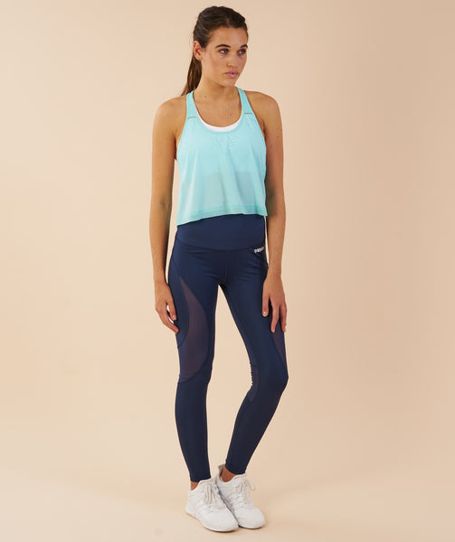 Gymshark T-Bar Cropped Vest - Pale Turquoise 2