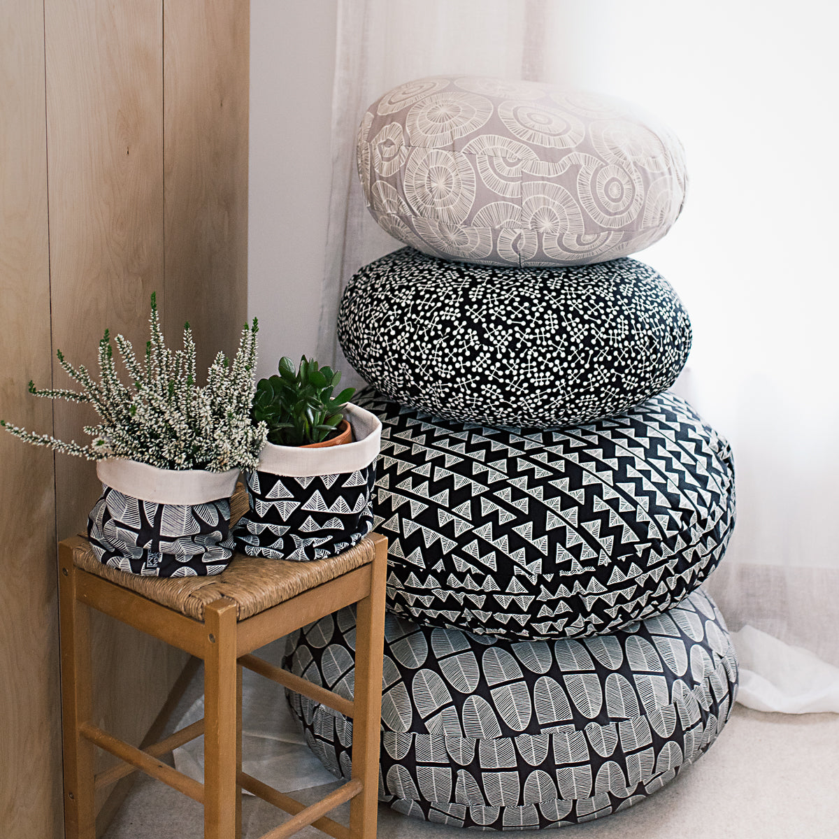 Floor Cushions - Silver Basket - Artisan Lifestyle Limited
