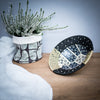 Ceramic and grass woven bowl