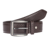4180 Brown Textured Belt for Men