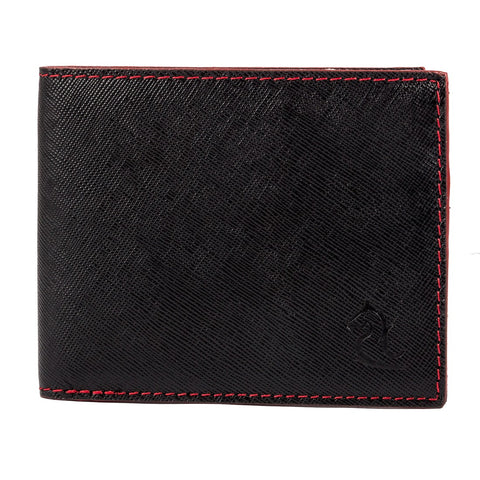 10098 Black Textured Bifold Wallet