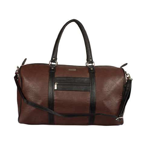 Ecco Brown & Black Duffel Bag