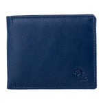 10078 Blue & Brown Bifold Wallet