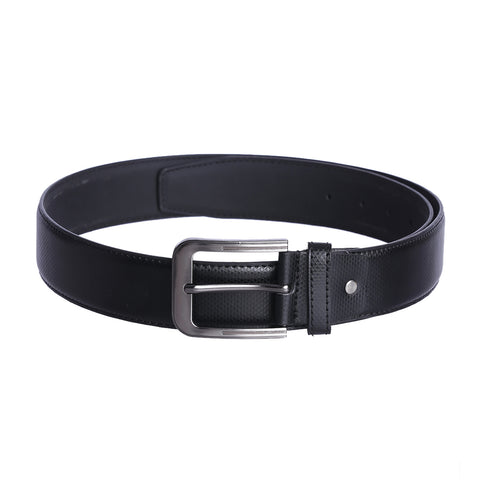 4206 Black Textured Belt for Men