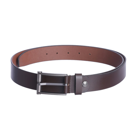 4227 Brown Textured Leather Belt for Men
