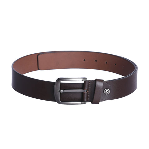 4141 Brown Leather Belt for Men