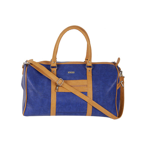 ECCO BLUE & CAMEL DUFFEL BAG
