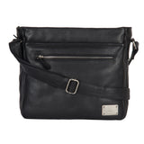Clark Black Messenger Bag