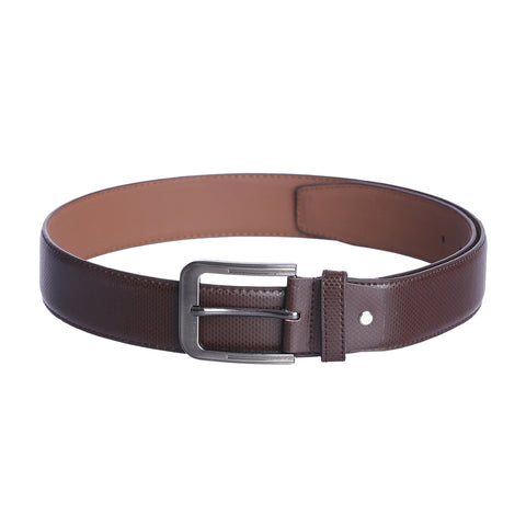 4206 Brown Textured Belt for Men