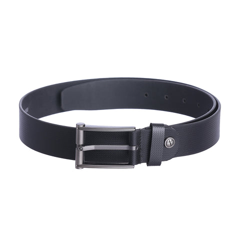 4227 Black Textured Leather Belt for Men