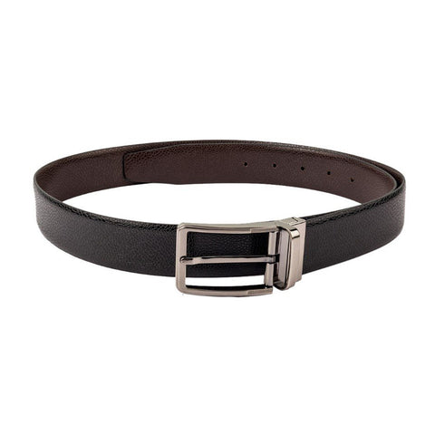 Black & Brown Reversible Textured Belt