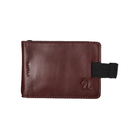 Tan Money Clip Card Wallet
