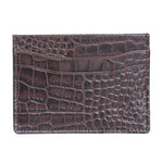 10119 Croco Blue Leather Card Holder for Men and Women