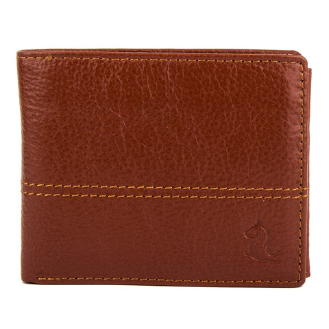 Orange Contrast Stitched Wallet