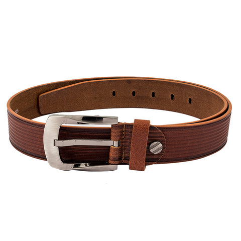 4164 Tan Textured Leather Belt for Men