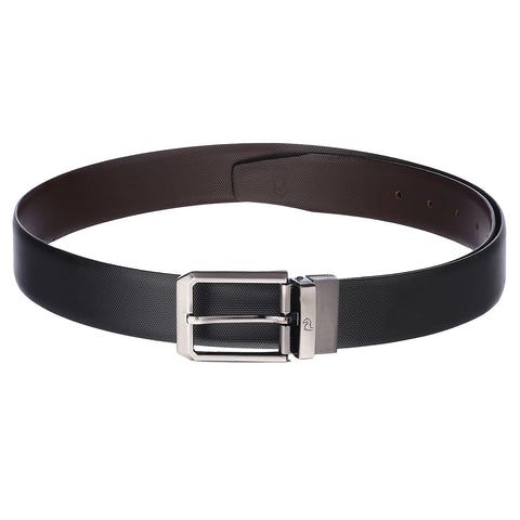4128 Black & Brown Reversible Textured Belt