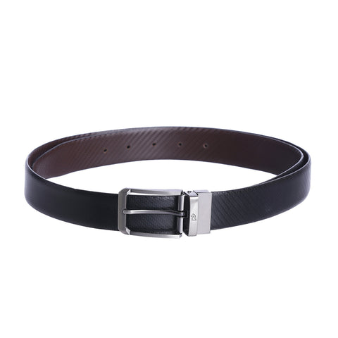 4114 Black & Brown Reversible Textured Belt
